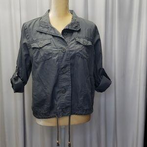 Frenchcuff gray jacket/top size Large